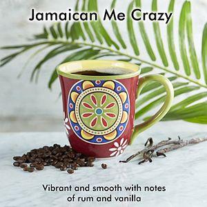 Door County Coffee & Tea Co. Jamaican Me Crazy Flavored Specialty Ground Coffee, Medium Roast, 10-oz.
