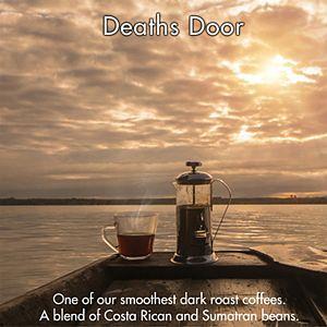 Door County Coffee & Tea Co. Death's Door, Costa Rica, Sumatra & Colombia Specialty Ground Coffee, Medium Roast, 10-oz.