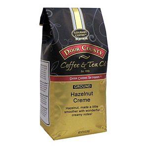 Door County Coffee & Tea Co. Hazelnut Creme Flavored Specialty Ground Coffee, Medium Roast, 10-oz.