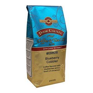 Door County Coffee & Tea Co. Blueberry Cobbler Flavored Specialty Ground Coffee, Medium Roast, 8-oz.