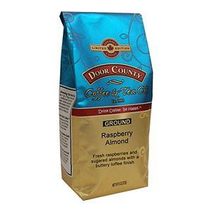 Door County Coffee & Tea Co. Raspberry Almond Flavored Specialty Ground Coffee, Medium Roast, Ground, 8-oz.