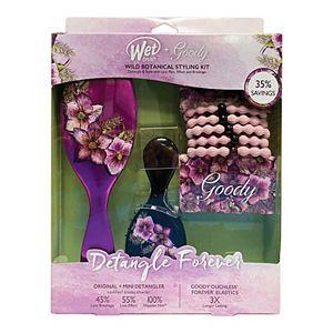 Wet Brush Wild Botanical Detangler Brush Set & Goody Scrunchie Kit