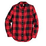 Girls 4-20 & Plus Size SO® Plaid Flannel Tunic Top