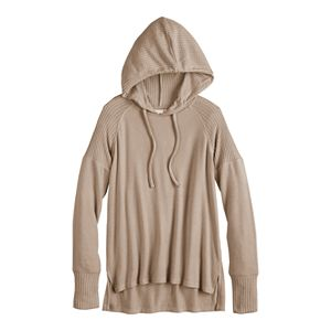 Juniors' SO® Cozy Waffle Knit Hoodie