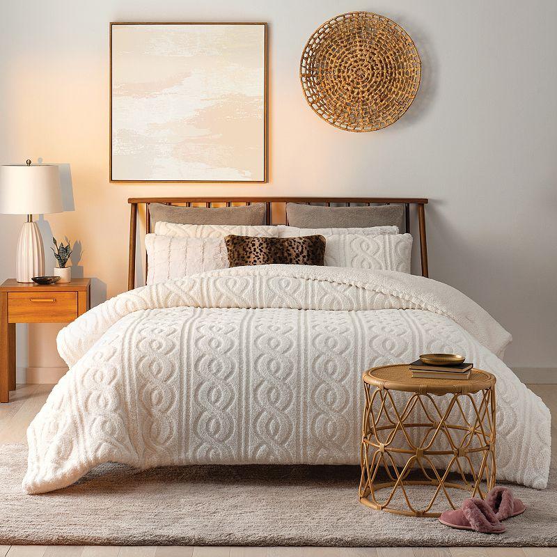 Koolaburra by UGG Tynlee Comforter Set, White, Full/Queen