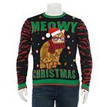"""Big & Tall 33 Degrees """"Meowy Christmas"""" Ugly Christmas Sweater"""