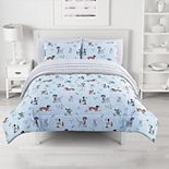 The Big One® Kids Reversible Jack Dogs Plush Comforter Set with Sheets