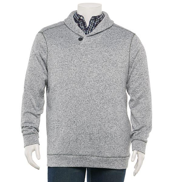 Big & Tall Sonoma Goods For Life® Modern-Fit Sweater Fleece Shawl-Collar Sweater