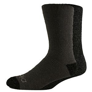 Men's Dickies 2-pack Heavyweight Charcoal-Fiber Thermal Crew Socks
