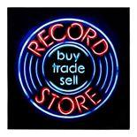 Record Store Faux Neon Wall Decor