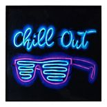 Chill Out Faux Neon Wall Decor