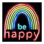 Be Happy Faux Neon Wall Art Decor
