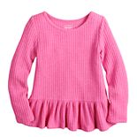 Toddler Girl Jumping Beans® Thermal Peplum-Hem Top