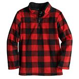 Boys 4-12 Jumping Beans® Microfleece Buffalo Plaid Quarter Zip Top