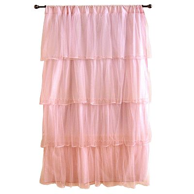 Tadpoles Tulle 63 Curtain Panel - Pink