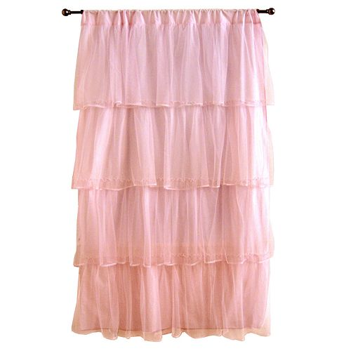 "Tadpoles™Tulle 63"" Window Curtain- Pink"