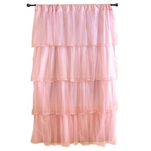 Tadpoles Tulle 63 Window Curtain - Pink