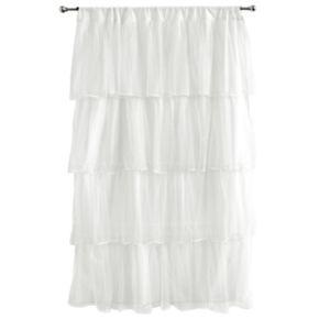 Tadpoles Tulle 63 Window Curtain - White