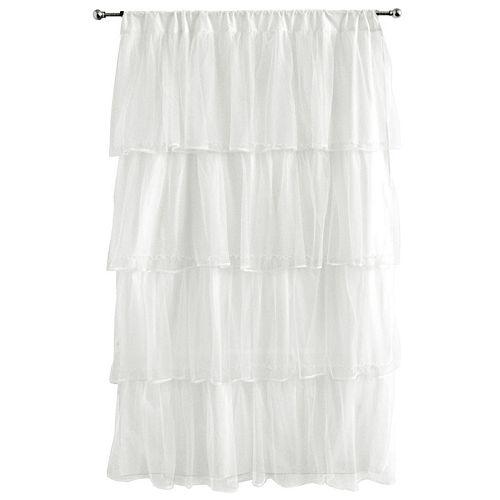 """Tadpoles™ Tulle 63"""" Window Curtain - White"""