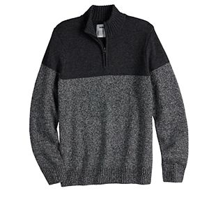 Men's Sonoma Goods For Life® Solid Quarter-Zip Sweater