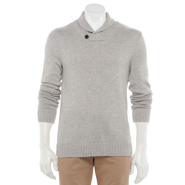 Men's Sonoma Goods For Life® Shawl-Collar Pullover ... Sweater