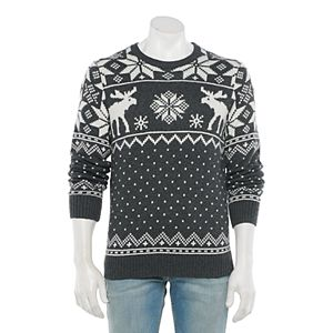 Men's Sonoma Goods For Life® Patterned Crewneck Sweater