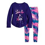 Girls 4-14 SO® 2-Piece Tunic & Thermal Leggings Pajama Set with Sock