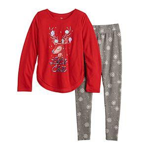 Girls 4-14 SO® 2-Piece Tunic & Thermal Leggings Pajama Set