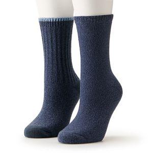 Women's Sonoma Goods for Life® Rib Crew Socks 2-Pack