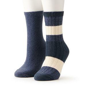 Women's Sonoma Goods For Life® Mixed Stripe Crew Socks 2-Pack