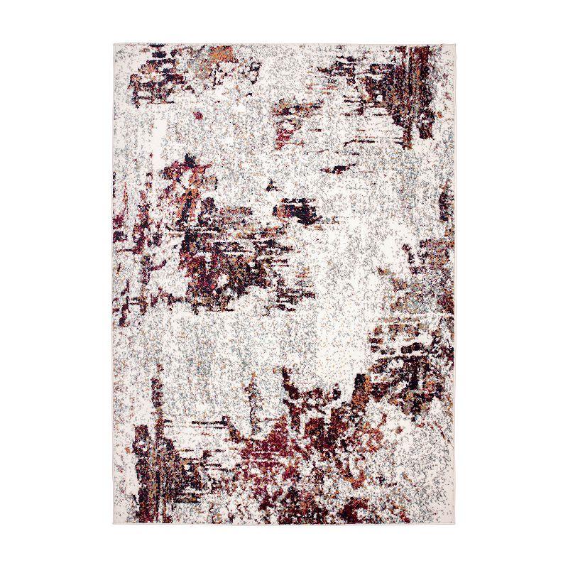 World Rug Gallery Wynn Abstract Rug, 5X7 Ft
