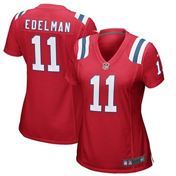 Women's Nike Julian Edelman Red New England Patriots Alternate Game Jersey