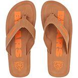 Men's Chicago Bears Color Pop Flip Flop Sandals