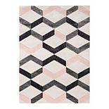 Well Woven Good Vibes Millie Modern Geometric 3D Textured Area Rug