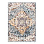 Well Woven Rodeo Encino Global Vintage Medallion Area Rug