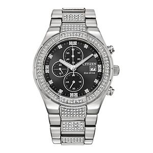 Men's Citizen Eco-Drive Stainless Steel Chronograph Watch - CA0750-53E