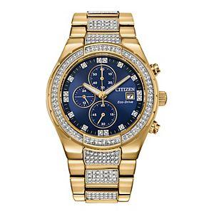 Men's Citizen Eco-Drive Crystal Chronograph Watch - CA0752-58L