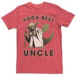 """Men's Star Wars """"Yoda Best Uncle"""" Rebel Logo Tee"""