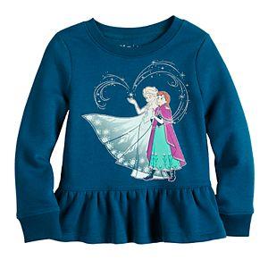 Disney's Frozen Elsa & Anna Toddler Girl Long Sleeve Fleece by Jumping Beans®
