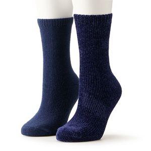 Women's Sonoma Goods For Life® Chenille Crew Socks Socks 2-Pack