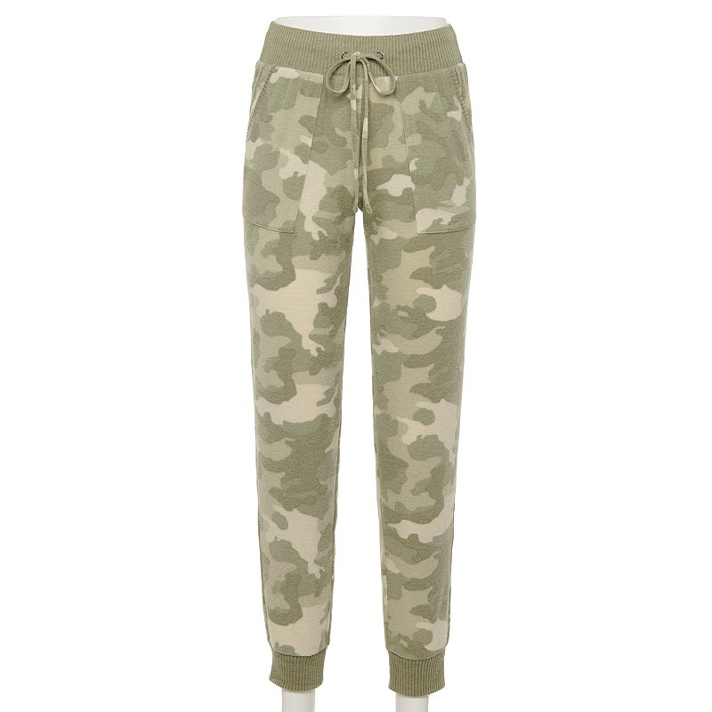 Juniors' SO Cozy Hacci Jogger Pants with Rib Trim, Girl's, Size: XL, Green