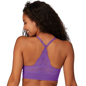 Women's Maidenform® Pure Comfort Wireless V-Neck Pullover Bra with Lace Back DM7679