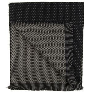 Men's Dockers Black & Gray Dotted Reversible Scarf