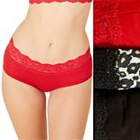 Women's Cosabella Love 3-Pack Hotpant Panties LOVPK3721