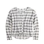 Girls 6-20 & Plus Size SO® Tie Front Long Sleeve Tee