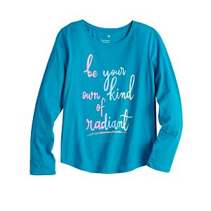 Girls 4-20 & Plus Size SO® Long Sleeve Graphic Tee