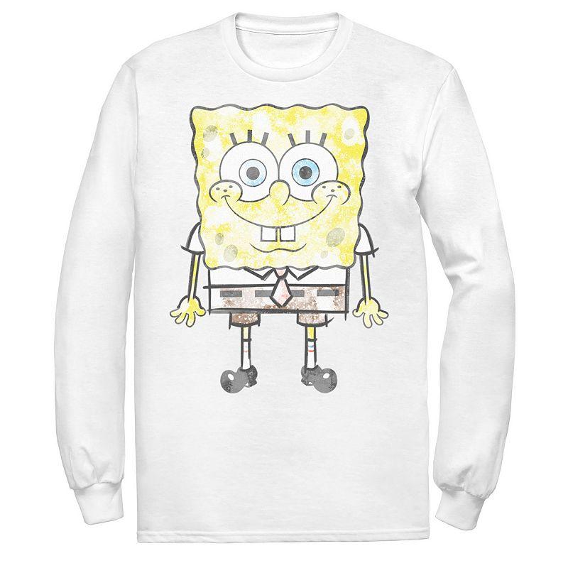 Men's Spongebob SquarePants Faded Portrait Tee, Size: XXL, White