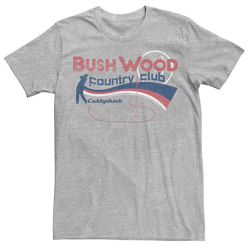 Men's Caddyshack Bushwood Country Club Americana Tee, Size: Small, Med Grey