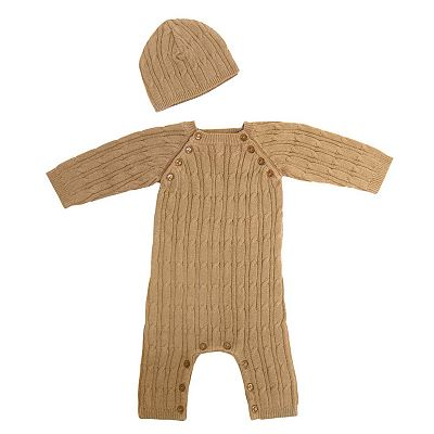 Tadpoles Organic Cotton Cable-Knit Romper Set