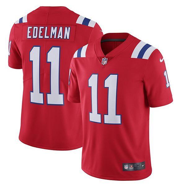 Men's Nike Julian Edelman Red New England Patriots Alternate Vapor Limited Jersey